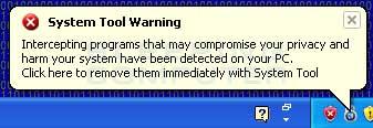 Intercepting tools warning