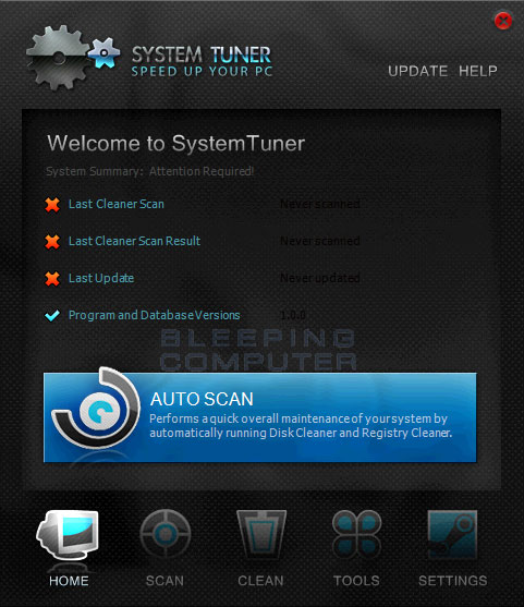 System Tuner screen shot