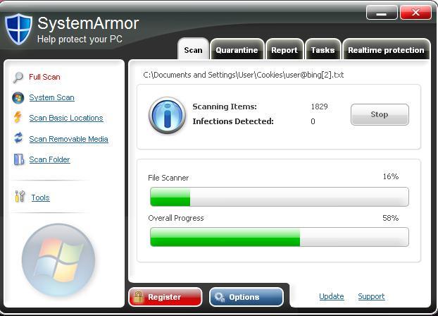 SystemArmor screen shot