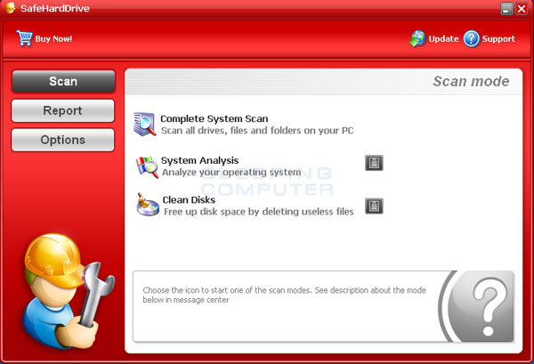 SafeHardDrive Screenshot