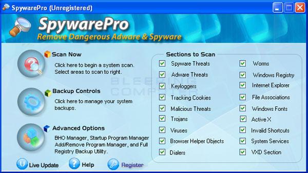 SpywarePro Screenshot
