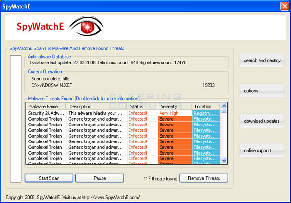 SpyWatchE Screenshot