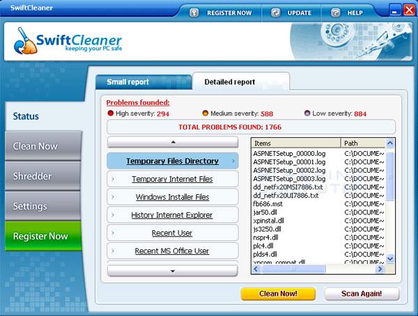 SwiftCleaner Screenshot