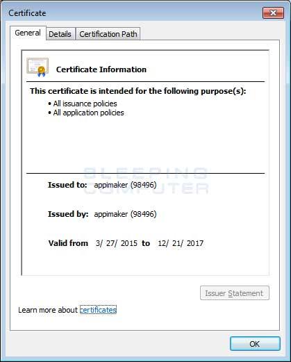TabNav root certificate