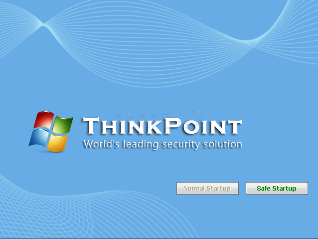 ThinkPoint Start screen