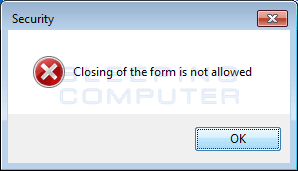 Alert when trying to close the Screenlocker