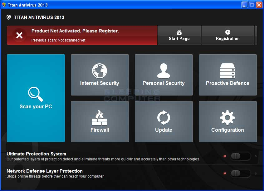 Titan Antivirus 2013 screen shot