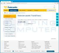 Ceska Posta Phishing Site