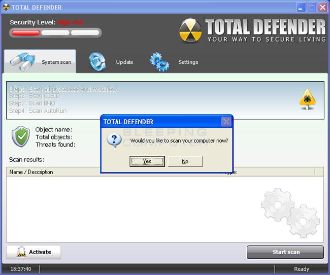 Total Defender screen shot