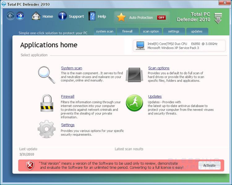 Total PC Defender screen shot