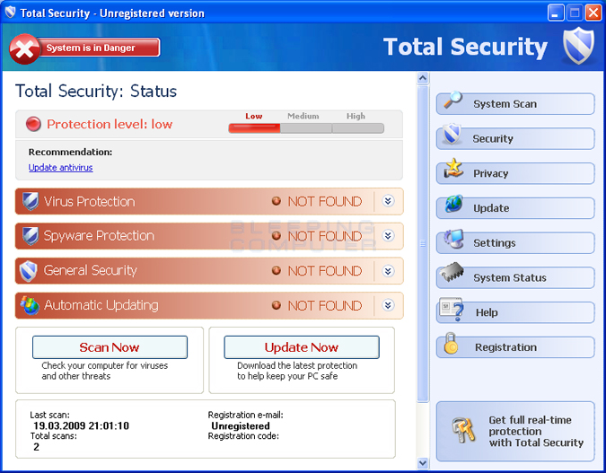 Total Security Screen shot