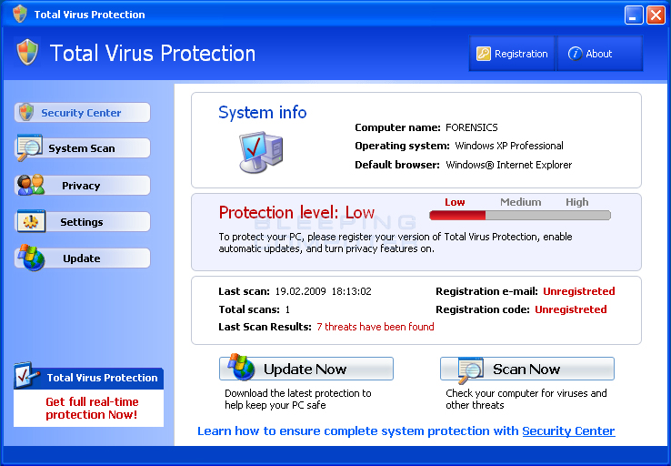 Total Virus Protection screen shot