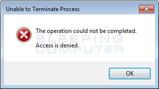 Kill Process Error