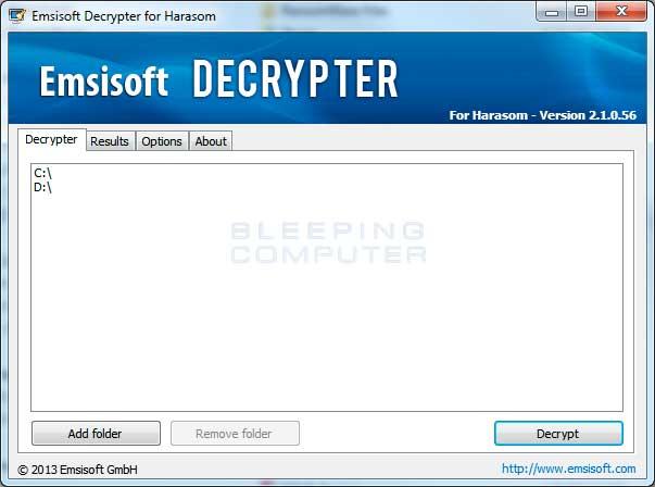 Emsisoft Harasom Decrypter