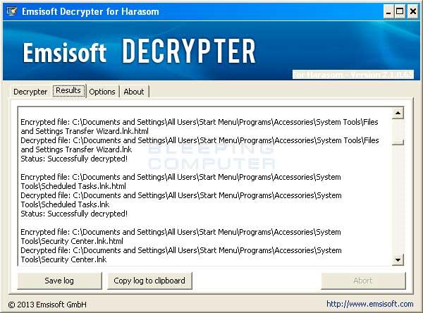 Decrypting Screen