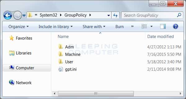 GroupPolicy Folder