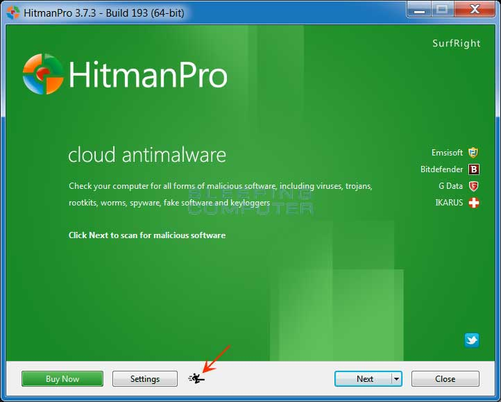 HitmanPro Start Screen