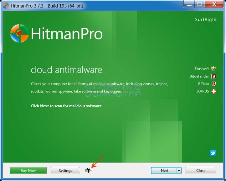 HitmanPro Start Screen
