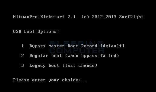 Kickstart USB Boot Options