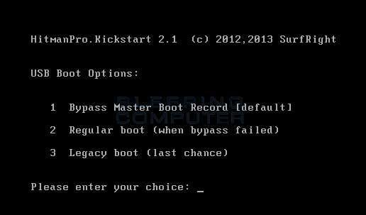 Kickstart USB Boot Options