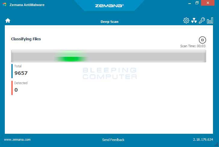 Zemana AntiMalware Scan