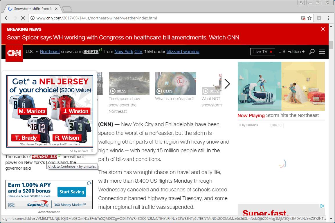 Unisales Ads on CNN