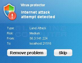 Fake security alert #1