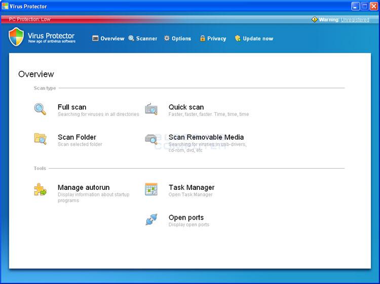 Virus Protector screen shot