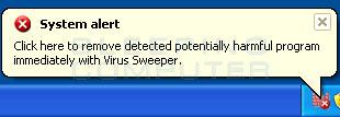 Misleading security alert