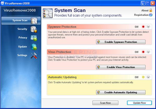 VirusRemover2008 screen shot