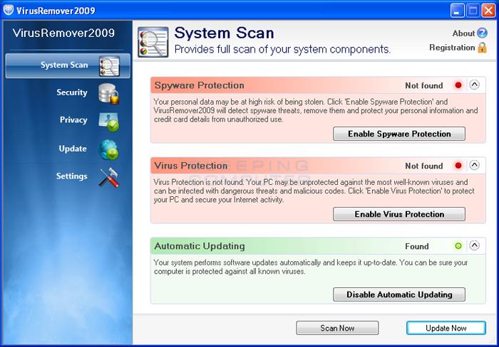 VirusRemover2009 screen shot