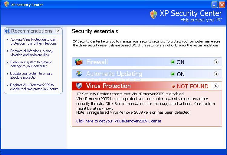 XP Security Center