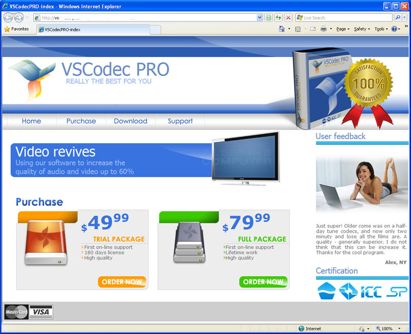 VSCodecPro web site