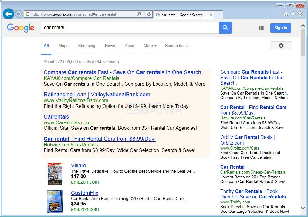 Websearcher Ads in Google