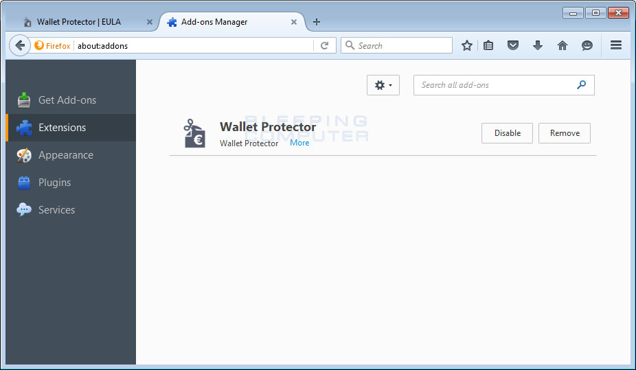 Wallet Protector Firefox Extension