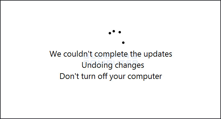 Fake Windows Update screen #2