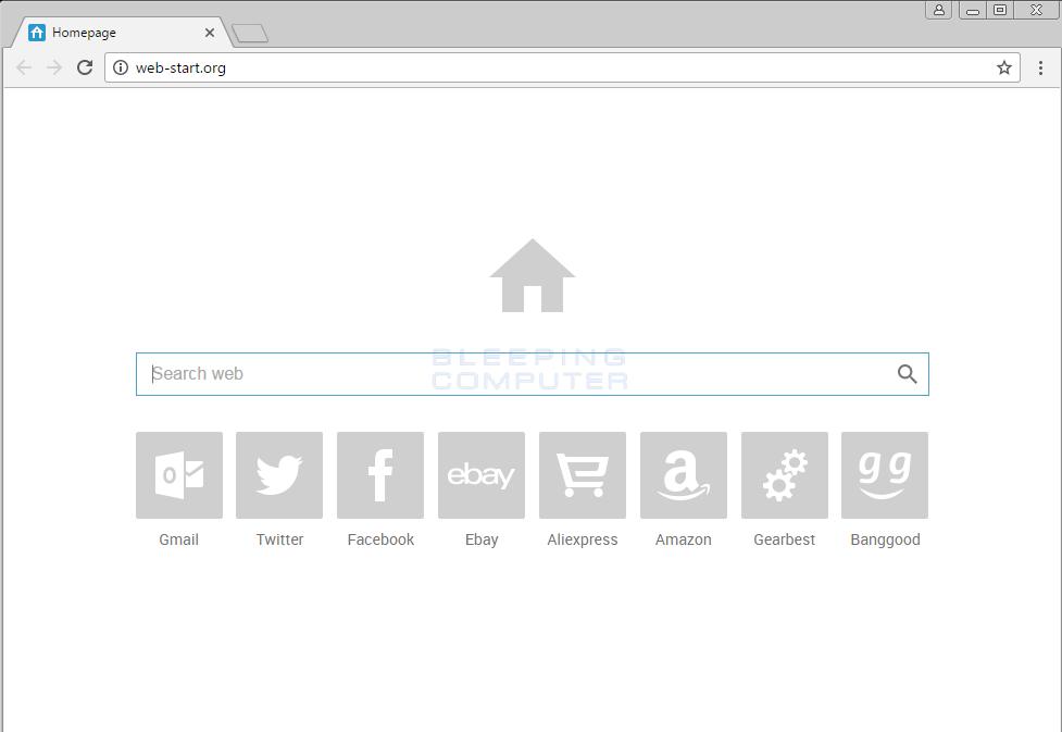 Web-start.org Google Chrome Hijack