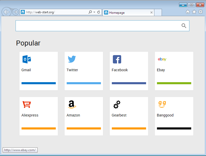 Web-start.org Internet Explorer Hijack