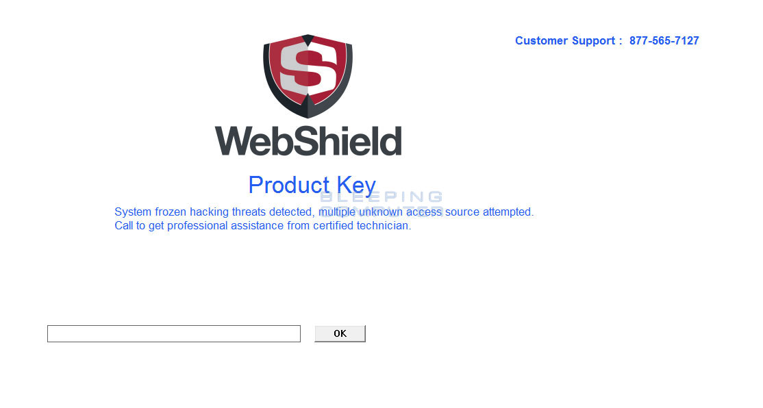 WebShield Tech Support Scam