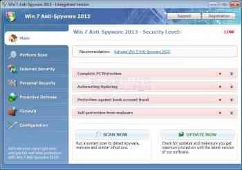Win 7 Anti-Spyware 2013 Image
