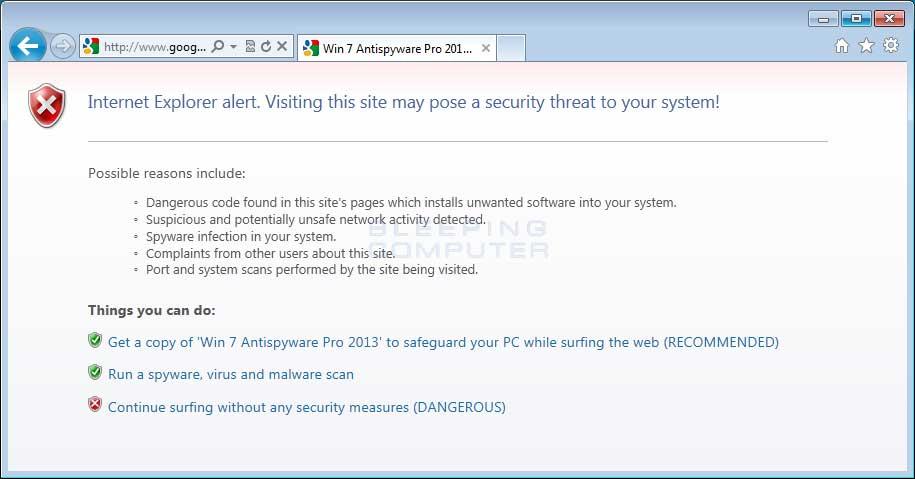 Browser hijack