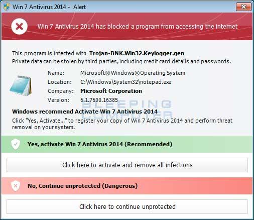 Blocked legitimate program