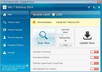 Win 7 Antivirus 2014 Image