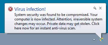 Fake Virus Infection Alert