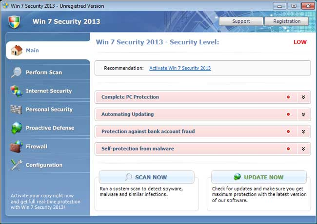 Win 7 Security 2013 screen shot