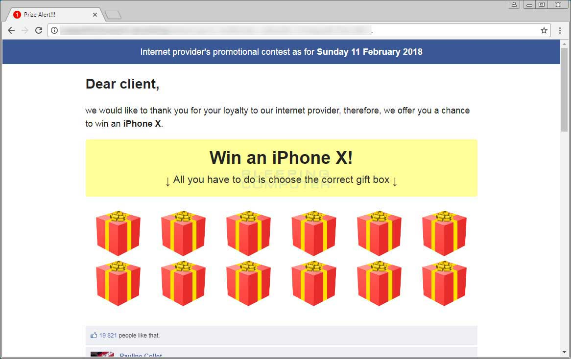 Win an iPhone X Advertisement