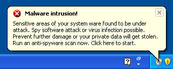 Malware Intrusion alert