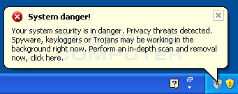 System Danger alert