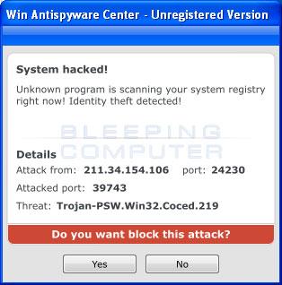 System Hacked alert
