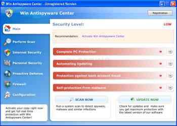 Win Antispyware Center Image